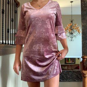 Velvet Half Sleeve Dress Sz M